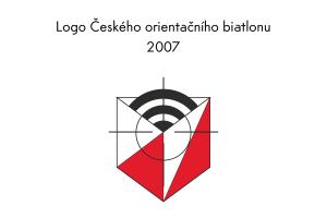 Logo Českého orintačního biatlonu